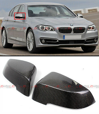 For 2013-2016 BMW F10 LCI Direct Replacement Carbon Fiber Mirror Covers Cap Pair