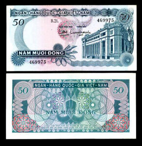 ND 1969 Vietnam South 50 Dong P-25 UNC