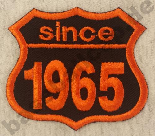 Patch ricamate anni numero since 1965 Biker Hot Rod Custom