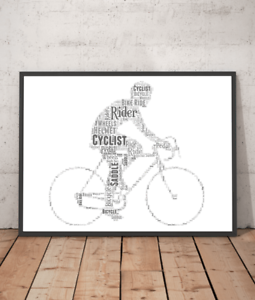 Word Art - Cycling - Bike Riding Gift