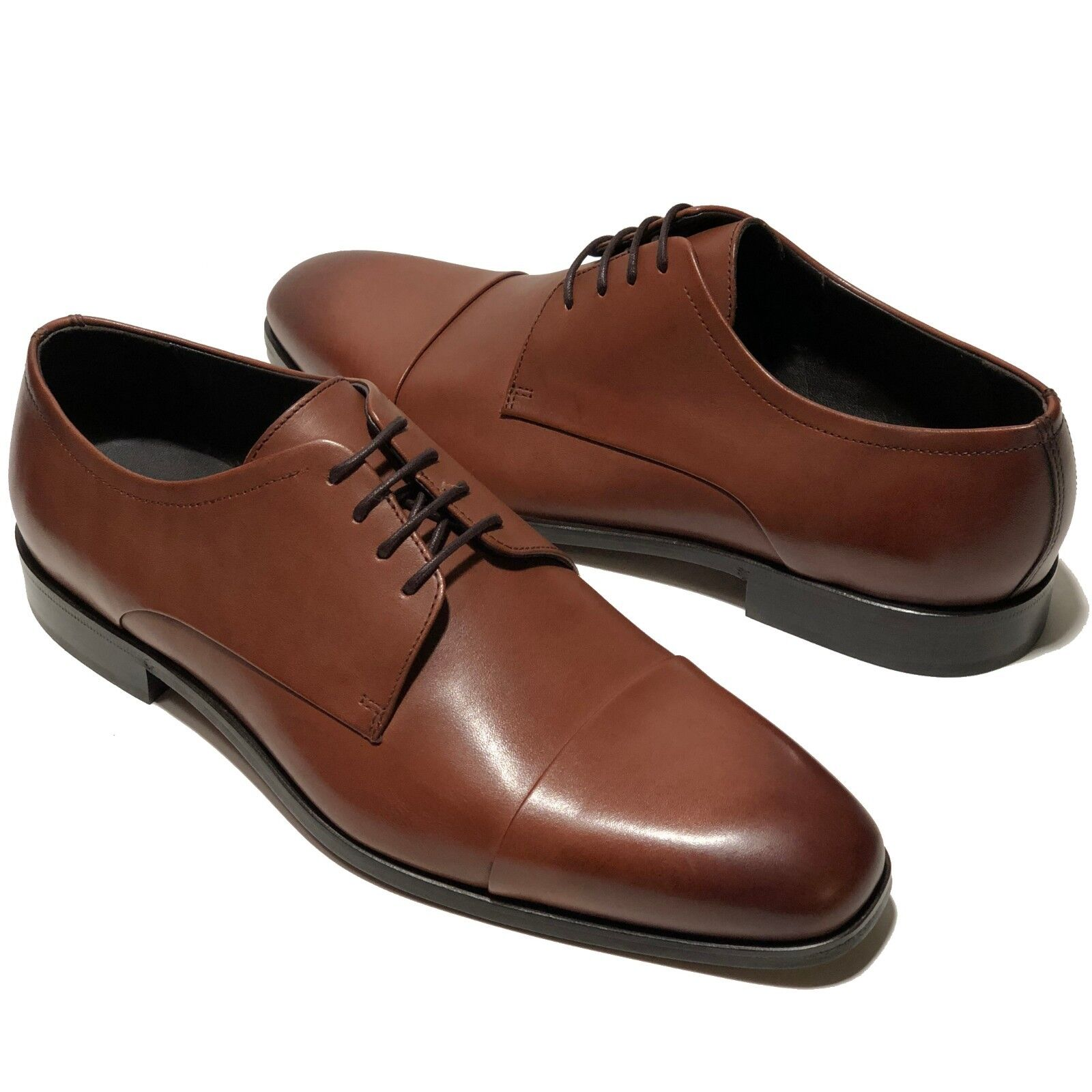 akribische Färbeprozesse heißes Produkt großer Rabatt Special Hugo Boss Brown Leather Colosons Captoe Mens Oxford Dress Formal  Casual 10