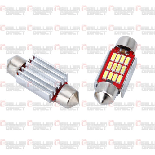 VAUXHALL VECTRA NUMBER PLATE LED BULBS CANBUS NO ERROR FREE 12 LED XENON WHITE
