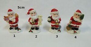 Details Sur Pere Noel Miniature Pour Maison De Poupee Mini Vitrine Decoration De Noel S7
