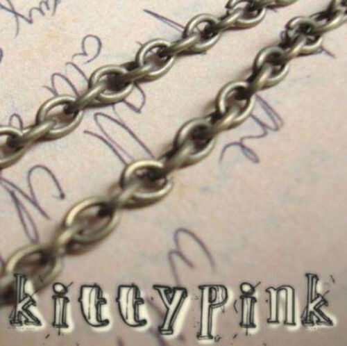 2 Metres Antique Gold Bronze Chain 4 x 3mm Nickel Free