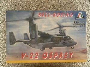 Italeri-Bell-Boeing-V-22-Osprey-No-825-Model-Kit-1982-In-Box