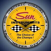 Sun Instruments Electric Corporation Tachometer Lighted Advertising Clock
