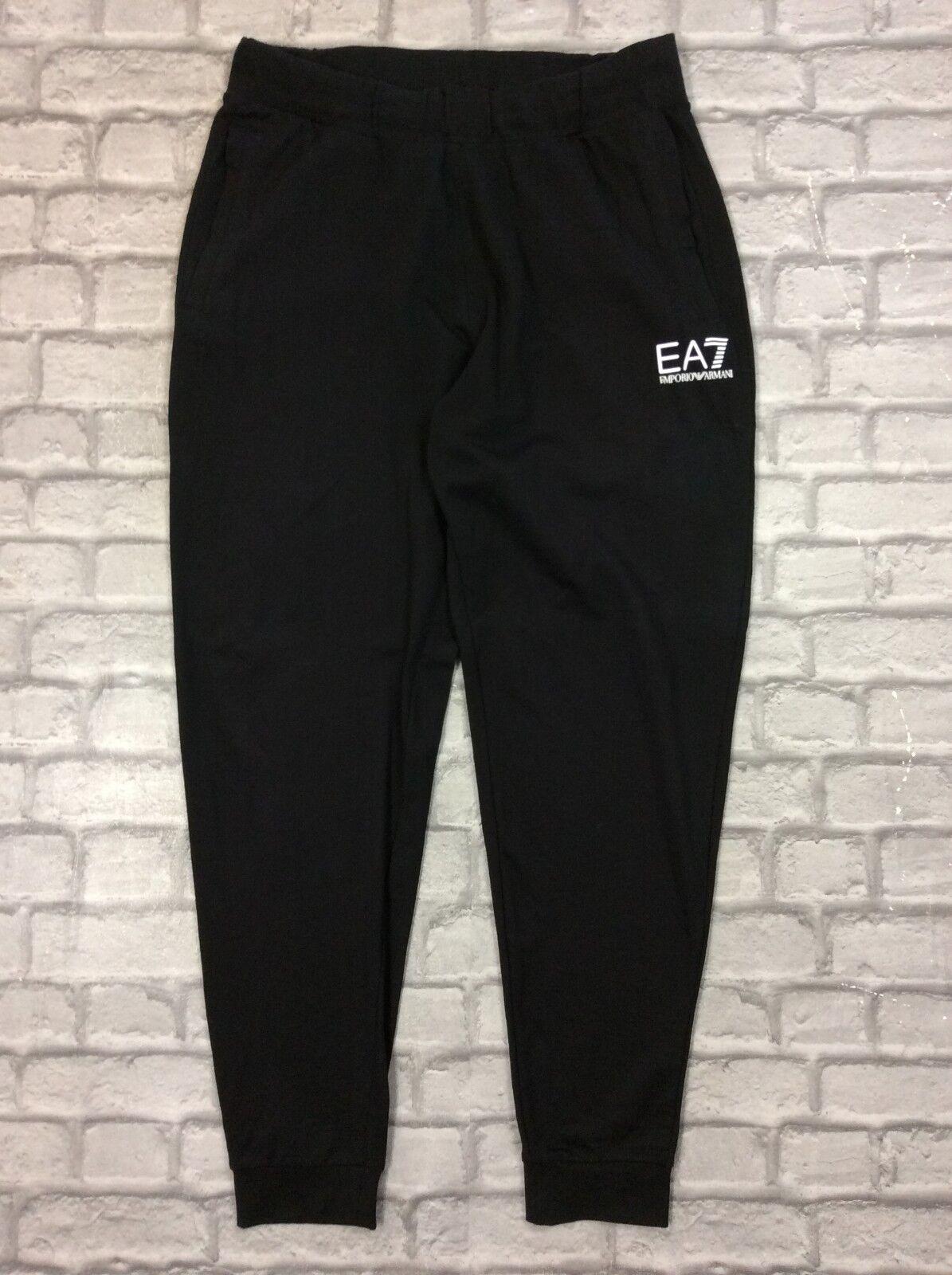 be93e2a3891 EMPORIO ARMANI EA7 homme UK XL Noir Survêtements De Jogging Jogging Jogging  Jogging Designer Rrp £
