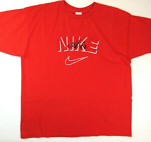 bc7bcd705713a Details about Nike Air 1990's Men's XL Embroidered Red T-Shirt - Vintage  Made in USA
