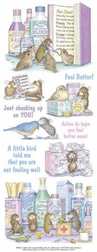 """House Mouse /& Friends /""""Birdie dit de malaise/"""" Autocollants Pour Cartes et Artisanat"""