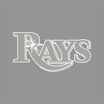 Tampa Bay Rays #2 MLB Team Logo 1 Color Vinyl Decal Sticker Car Window Wall
