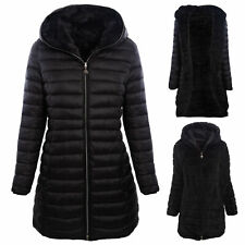 Piumino donna giaccone  pelliccia reversibile double face parka TOOCOOL J81161A