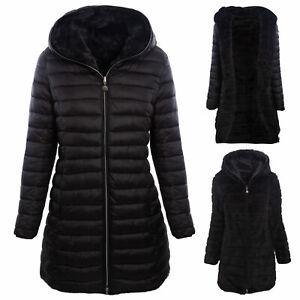 Piumino-donna-giaccone-pelliccia-reversibile-double-face-parka-TOOCOOL-J81161A