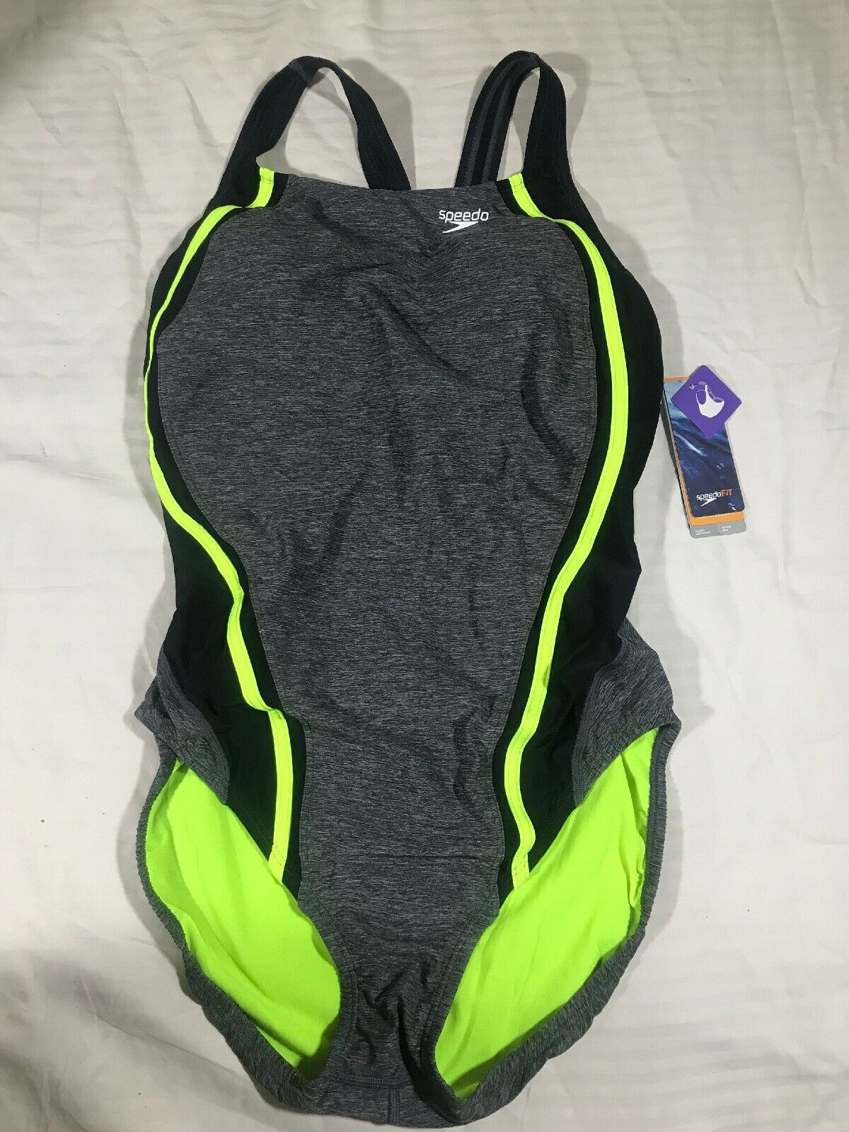 NWT Speedo Swimsuit 1pc Athletic Size 14 Hydro Bra $78 Pink Quantum Splice