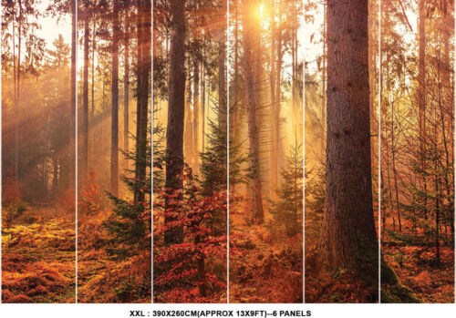 Tree Plant Light Wall Mural Forest Photo Picture Wallpaper Bedroom Decoration