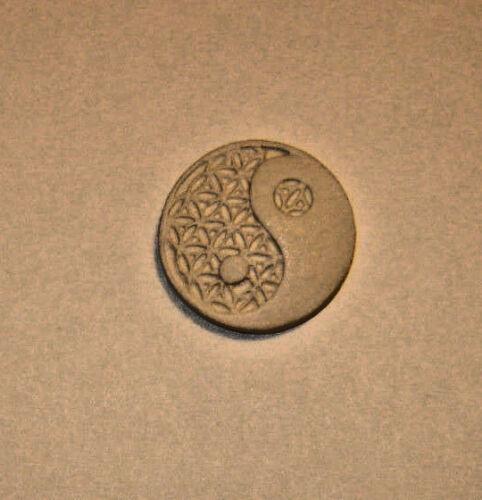 Ying n Yang Yin// Flower of Life Sacred Geometry Chakra Polymer Clay Push Mold