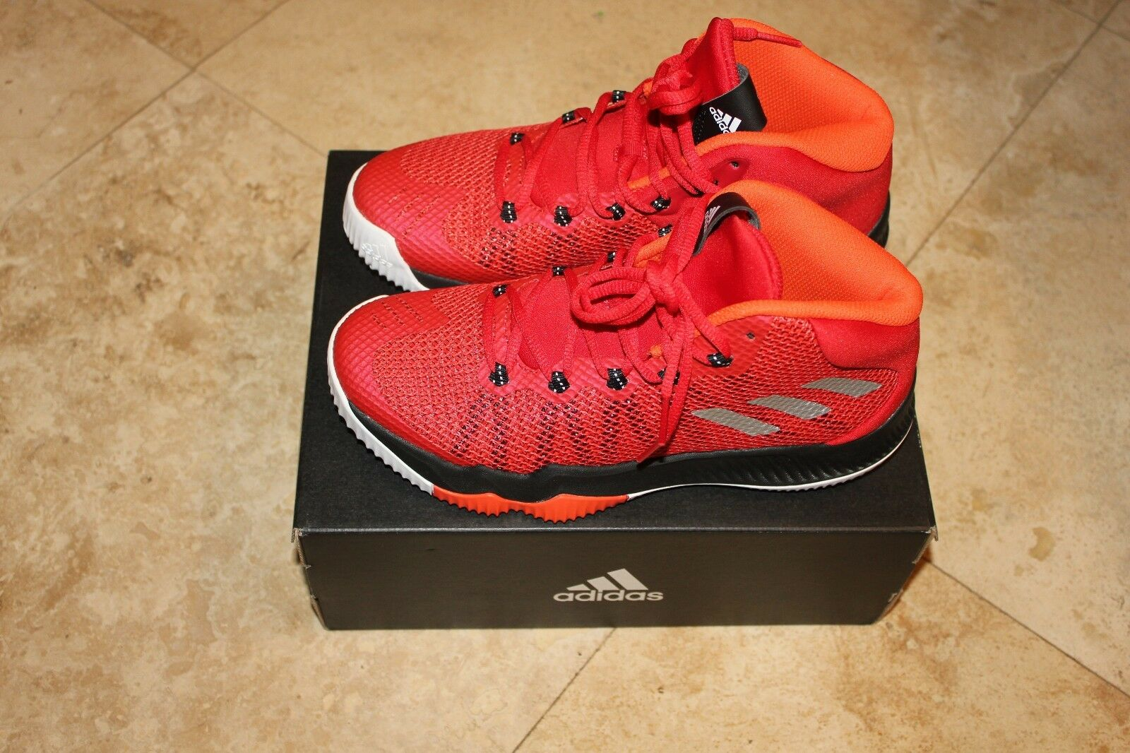 Men's Adidas Crazy Hustle J Red/Black/white/Orange  - Basketball BW0510 Brand discount