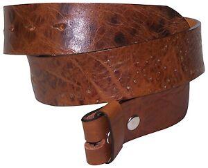 fronhofer Cinturón 4cm Vintage Cinturón Sin Hebilla Botón a presión Cinturón