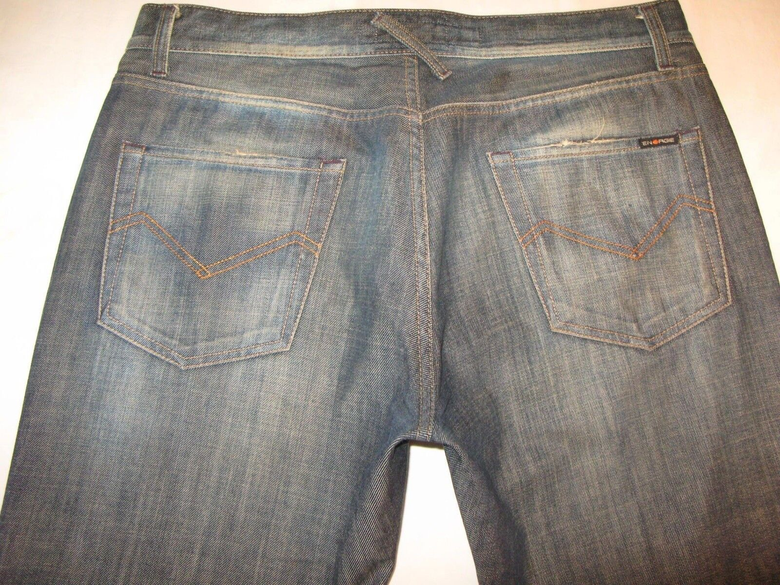 Energie Steven Bootcut Jeans Mens Sz 34 X 29 Distressed 100% Cotton  made
