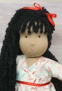 Kathe-Kruse-Cloth-Doll-16-034-Soft-Rag-Doll-Once-Upon-A-Tree-House-Long-Black-Hair
