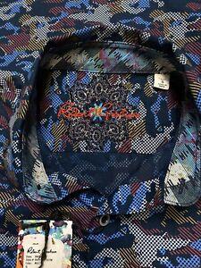 Robert-Graham-Men-s-Blue-Camo-Multicolor-Short-Sleeve-Shirt-198