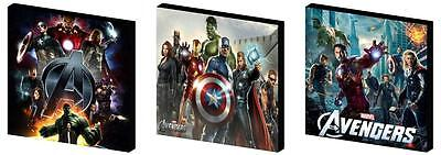THE AVENGERS - CANVAS ART BLOCKS/ WALL ART PLAQUES/PICTURES