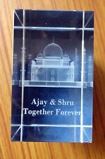 Tajmahal Personalized 3D Crystal Cube High End Laser Engraved With Your Message!