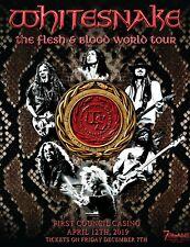 Concert Poster Whitesnake Year Of The Snake 2013 Lucky Star Casino Oklahoma Ebay