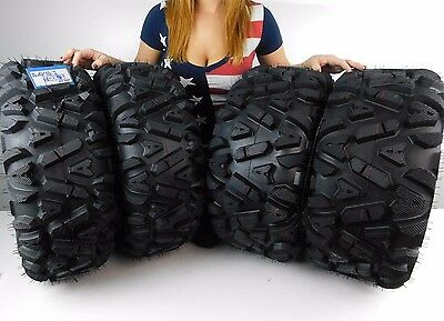 "New Honda Pioneer 500 MASSFX KT 26"" ATV Tires 26x9-12 26x11-12 Set 2014 and Up"