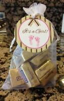 Baby Shower Favor Tags - Baby Boy Or Girl - Elegant Border And Bow
