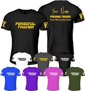 Personalised Personal Trainer T Shirt Clothing Fitness Gym Training Workout Pt Ebay