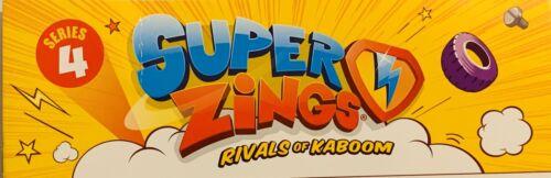Superzings rivali di Kaboom SERIE 4 tra cui ULTRA RARA KID kazoom
