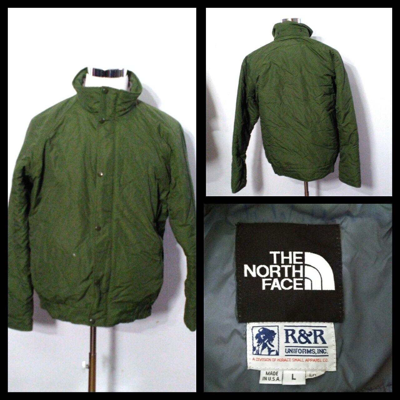 North Face Rangers Coat Men's Lg. Green Full Zip w  Snaps Inv S8787