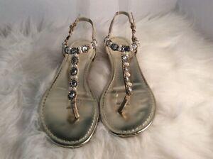 Flat PearlsRhinestoneamp; Sz Details Diamond 7 About Decorations 5 Style Unisa Ladies Sandals 34AqRjL5
