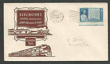 1949 COVER AURORA IL BURLINGTONS 100TH ANNIV OF RAILROADING SEE INFO