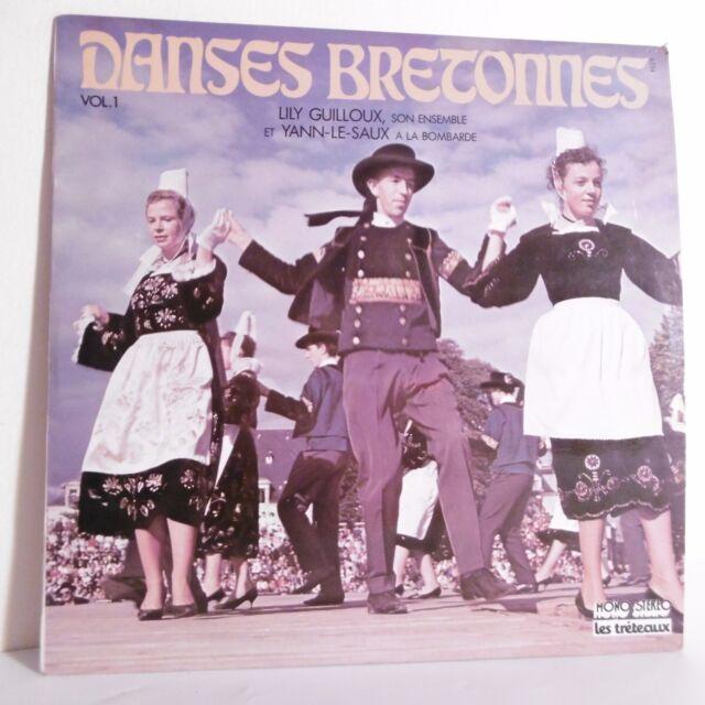 33T DANZAS BRETONNES Vinilo LP Lily GUILLOUX Yann LE SAUX Bombarda CABALLETES