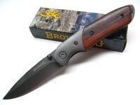 Browning Cocobolo Handle Straight Titanium Coated Folding Pocket Knife 0096