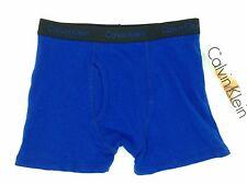 $35 CALVIN KLEIN BOY'S UNDERWEAR BLACK BLUE STRETCH BOXER BRIEF SIZE M (8-10)