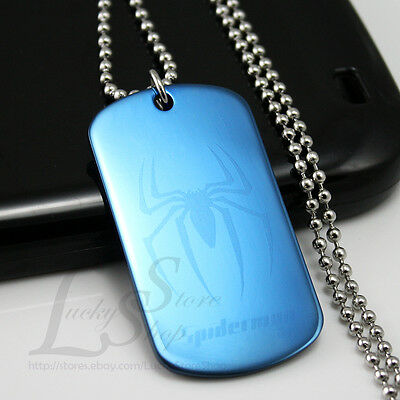 Custom Stainless Steel Dog Tag Pendant with Necklace Free Logo Text Engraving H5