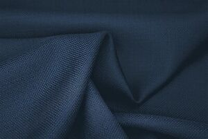 PURE WOOL NAVY HOPSACK SUPER FINE 150/'s LUXURY TAILORING MADE IN ITALY E174