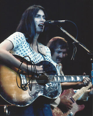 Photographs Imported From Abroad Emmylou Harris Folk Singer Guitarist Signed 8x10 Photo B W/coa Country Proof Cheap Sales Entertainment Memorabilia