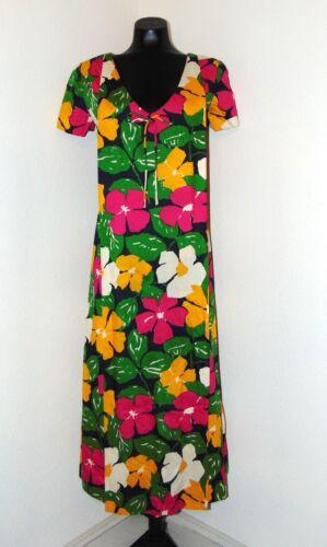 Vintage 1970s Colorful long Floral Patterned Dress