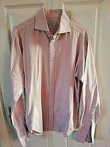 T-M-Lewin-camiseria-Camisa-Rosa-Para-Hombre-De-Lujo-Tamano-Mediano-15-1-2-Semi-Equipada