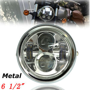 6-5-039-039-4000LM-Moto-Phare-Projecteur-LED-Headlight-Lamp-Pour-Harley-Bobber-Chopper