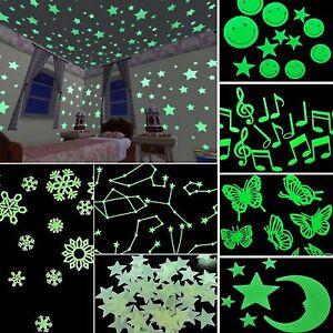 Newest plastic 3d stars glow in the dark luminous for Blacklight wall mural