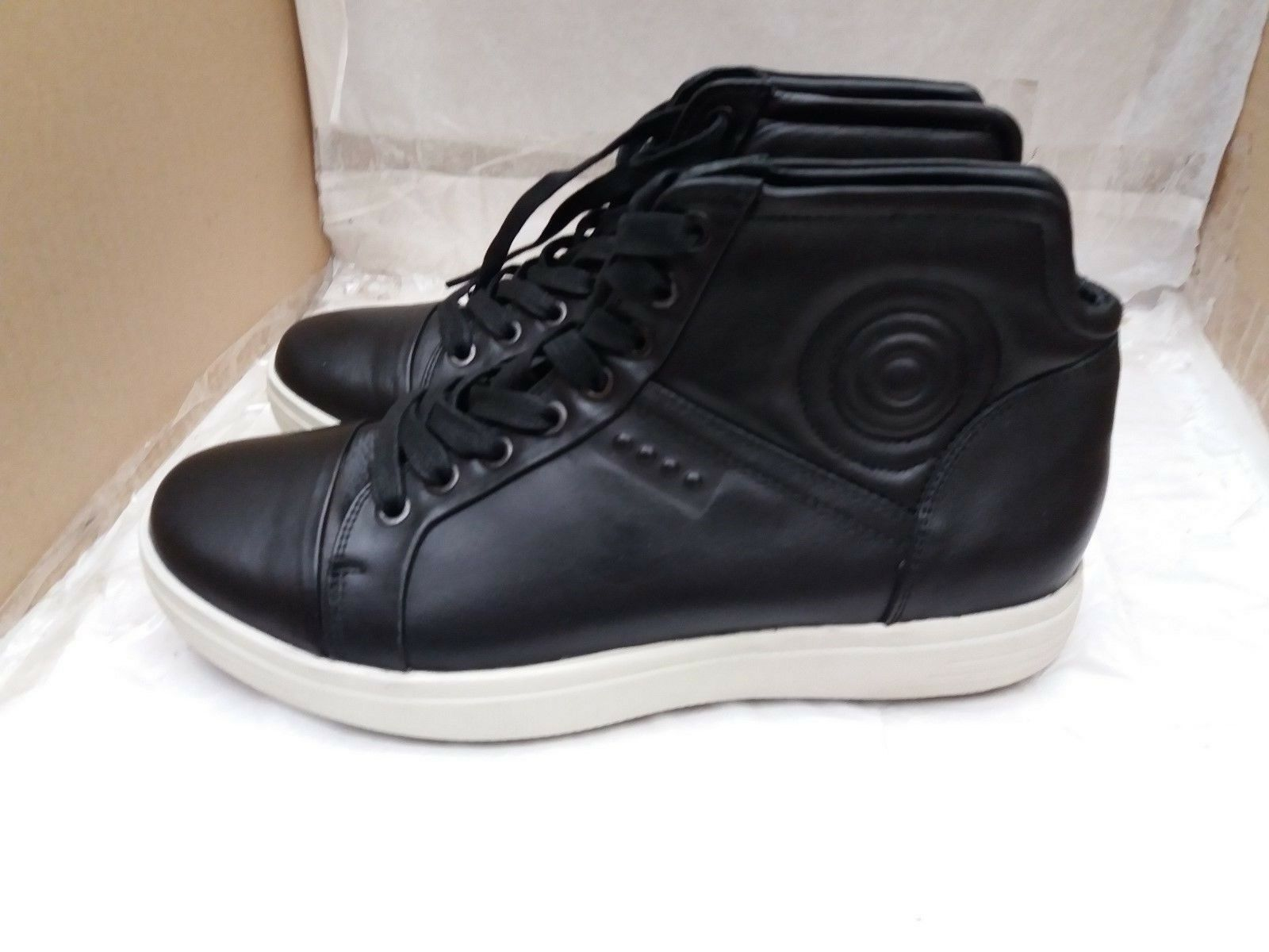 Zapatos casuales salvajes Para hombres Cuero Negro Ecco Suave 7 Hi Top Botas Talla 40 6.5/EU Reino Unido    120