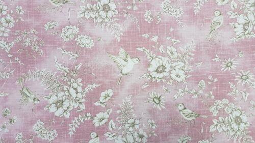 Cortina De Pájaro Rosa toile iliv Finch Tapicería Craft Diseñador Tela De Algodón