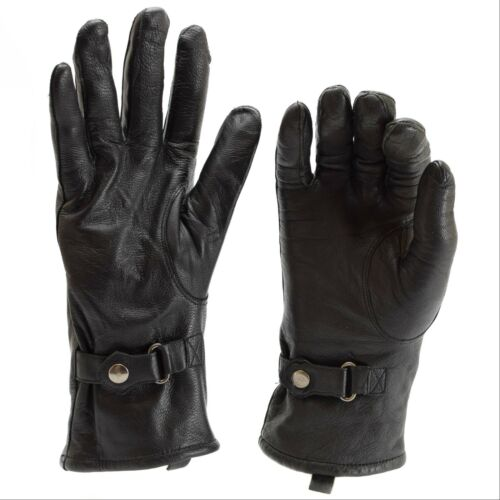 Genuine Dutch British army combat gloves leather black military