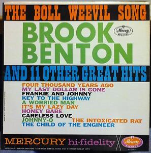 Details about BROOK BENTON the boll weevil song LP Mint- MG-20641 1st Press  1961 Record