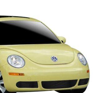 Details about For Volkswagen Beetle 2006-2011 APG 3-Pc Black Horizontal  Billet Bumper Grille
