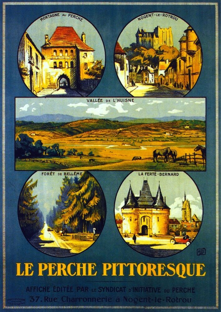 3185.Le Perche Pittoresque POSTER.French Travel art. Room Home art decoration